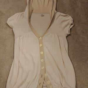 Free People short sleeve, button down hoodie